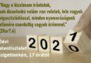Óévi hálaadó istentisztelet – Tele 2020 – 2Kor 7,4