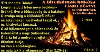 Igehirdetések Szigetlankán – Dániel 2,20-22