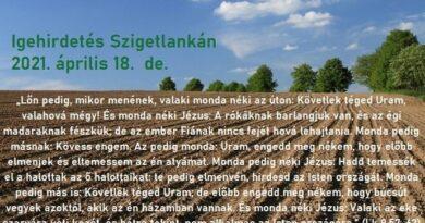 Igehirdetések Szigetlankán – Lk 9,57-62