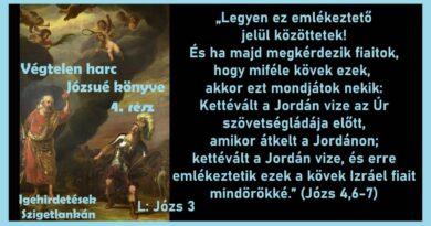 Igehirdetések Szigetlankàn – Végtelen harc – 4. rész – Józs 4,6-7